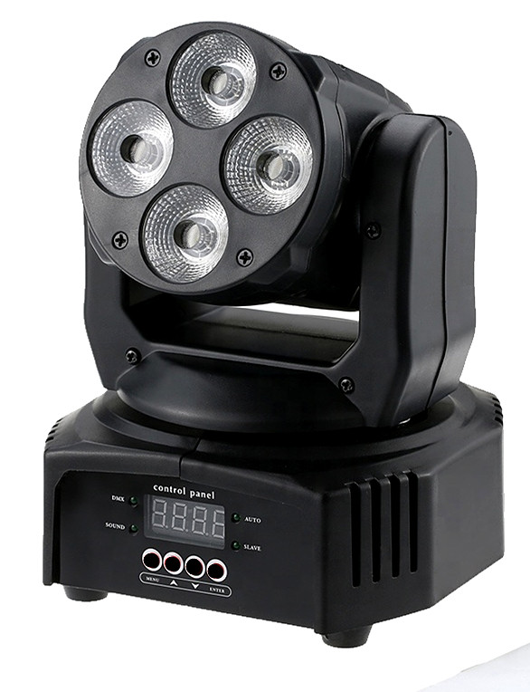 MINI LED 4PCS 6IN1 MOVING HEAD WASH LIGHT (HPC-871)